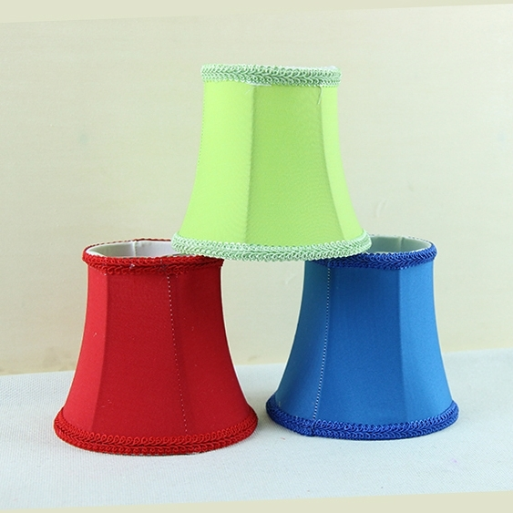 Most Current Chandelier Lamp Shades Clip On Pertaining To Red, Blue, Green Modern Light Lamps With Fabric Lamp Shades (View 4 of 10)