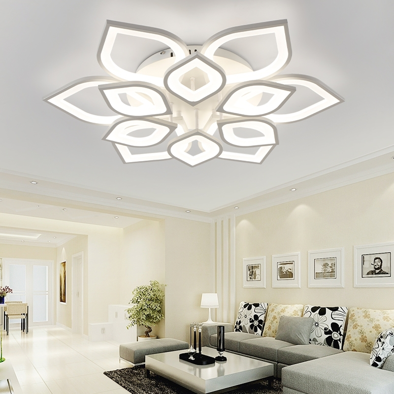 Most Current Chandelier Lights For Living Room Throughout Neo Gleam New Acrylic Modern Led Ceiling Chandelier Lights For (View 2 of 10)