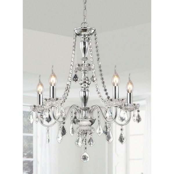 Most Current Chrome Chandeliers – Heidi 4 Light Crystal Chandelier, Maria Theresa Within Chrome And Crystal Chandelier (View 8 of 10)