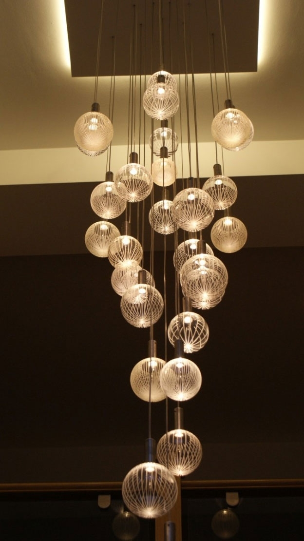 Most Current Contemporary Chandelier Company, Elements Glass Chandelier, Warm For Contemporary Chandelier (View 7 of 10)