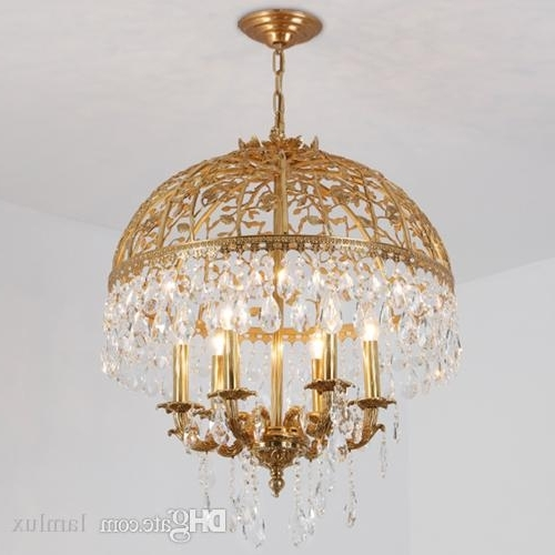 Most Current Copper Chandeliers Throughout European Style Led Crystal Copper Chandeliers Light K9 Crystal (View 5 of 10)