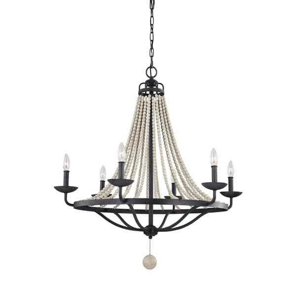 Most Current Feiss Nori 6 Light Dark Weathered Zinc / Driftwood Grey Chandelier With Feiss Chandeliers (View 7 of 10)
