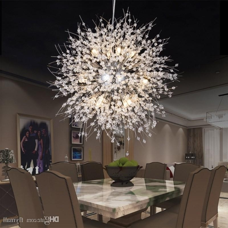 Most Current Globe Crystal Chandelier With Regard To Modern Dandelion Led Ceiling Light Crystal Chandeliers Lighting (View 7 of 10)