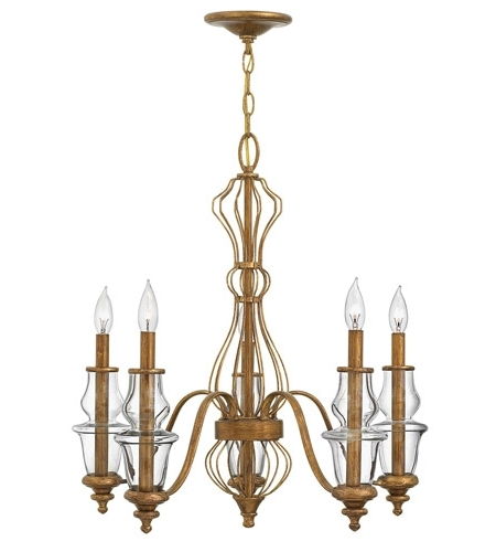 Most Current Gold Leaf Chandelier With Hinkley 3085Gf Celine 5 Light 25 Inch Antique Gold Leaf Chandelier (View 8 of 10)