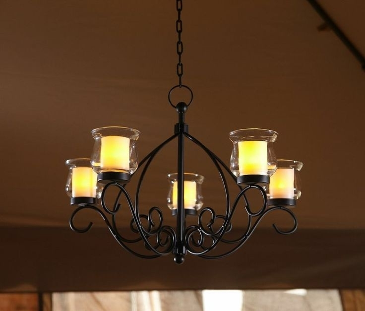 Most Current Hanging Candle Chandeliers Within Candle Chandelier For Gazebo : Lamp World (View 6 of 10)