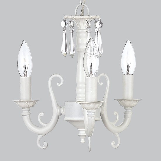 Most Current Kids Small Crystal Chandelier Light Fixture White Nursery Lighting Inside White Chandelier (Gallery 9 of 10)