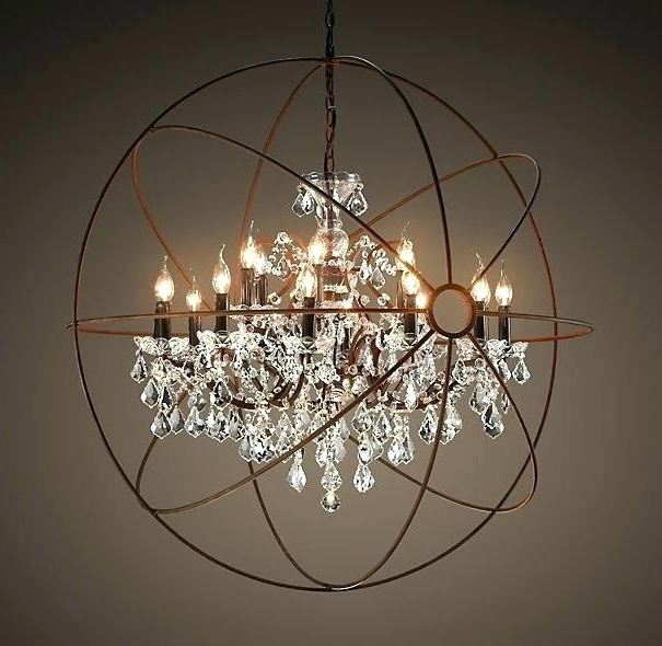 Most Current Large Globe Chandelier Plus Large Globe Chandelier Orb Crystal With Large Globe Chandelier (View 5 of 10)