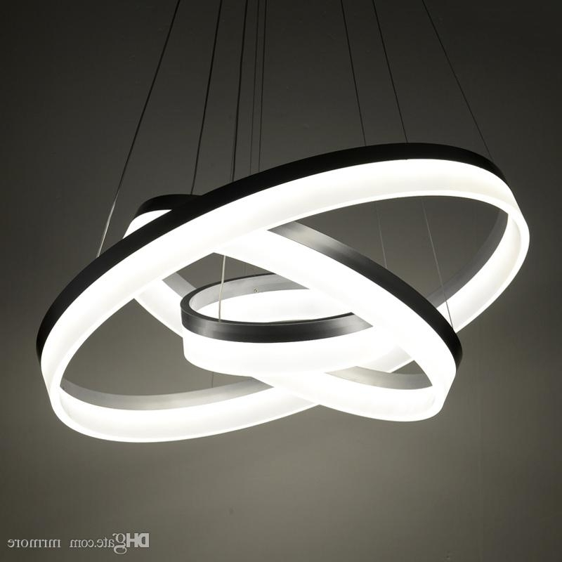 Most Current Modern Chandelier Regarding Luxury Modern Chandelier Led Circle Ring Chandelier Light For Living (View 9 of 10)