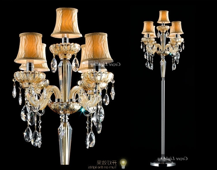 Most Current Picturesque Floor Standing Chandelier Lamp Ideas New At Dining Room Intended For Free Standing Chandelier Lamps (View 6 of 10)