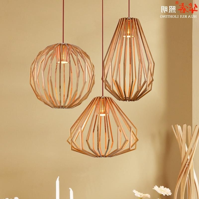 Most Current Retro Chandeliers Inside Pendant Lightings Solid Wooden Chandeliers Retro Diamond Shape (View 5 of 10)