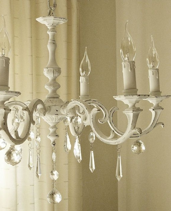 Most Current Shabby Chic Chandeliers With Painted Chandeliers Before And After (View 4 of 10)