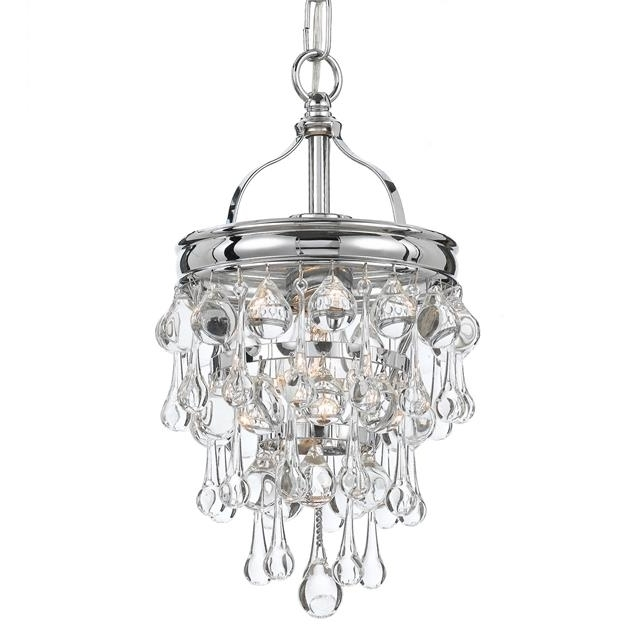 Most Current Small Chrome Chandelier Regarding Crystorama – Crystorama Calypso 1 Light Chrome Mini Chandelier (View 2 of 10)
