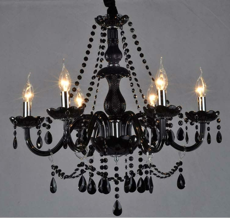 Most Popular Black Glass Crystal Chandelier Buy Throughout Remodel 7 Inside Black Glass Chandeliers (View 8 of 10)
