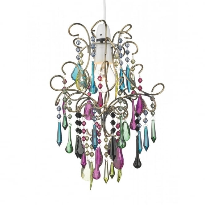 Most Popular Coloured Chandeliers In Easy Fit Light Shade Multi Coloured Chandelier To Buy From A Large (View 7 of 10)