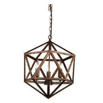 Most Popular Copper Chandeliers Intended For Rustic – Copper – Chandeliers – Lighting – The Home Depot (View 6 of 10)