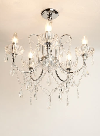Most Popular Flush Fitting Chandeliers With Regard To Edith Flush – Chandeliers – Ceiling Lights – Home, Lighting (View 5 of 10)