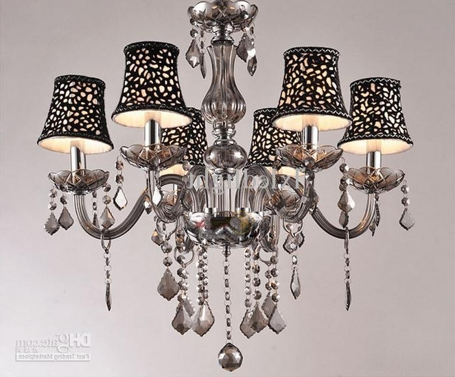 Most Popular Grey Crystal Chandelier With Regard To New Modern Smoke Gray Crystal Chandelier Pendant Lamp Ceiling (View 7 of 10)