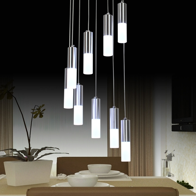 Most Popular Modern Led Chandelier With Regard To Modern Led Chandelier Lighting Dining Room Fixture Diy Simple Lamp (View 7 of 10)