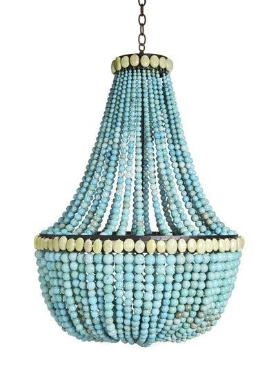 Most Popular Small Turquoise Beaded Chandeliers For Turquoise Beaded Chandeliers High Amp Diy Apartment Therapy (View 7 of 10)