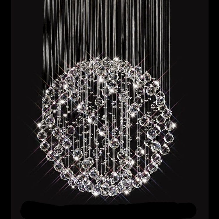 Most Popular Sparkling Floating Crystal Ball Pendant Chandelier – 3 Sizes (View 4 of 10)