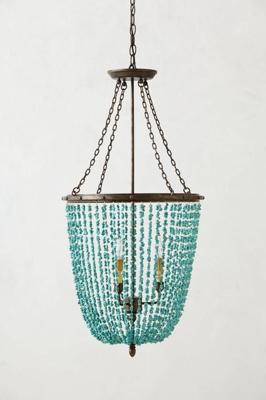Most Recent 16 Best Beaded Chandeliers Images On Pinterest With Turquoise In Diy Turquoise Beaded Chandeliers (View 8 of 10)