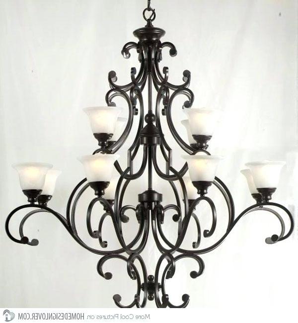 Most Recent Cast Iron Antique Chandelier Pertaining To Light: Cast Iron Ceiling Light Chandelier Marvellous Wrought (View 6 of 10)