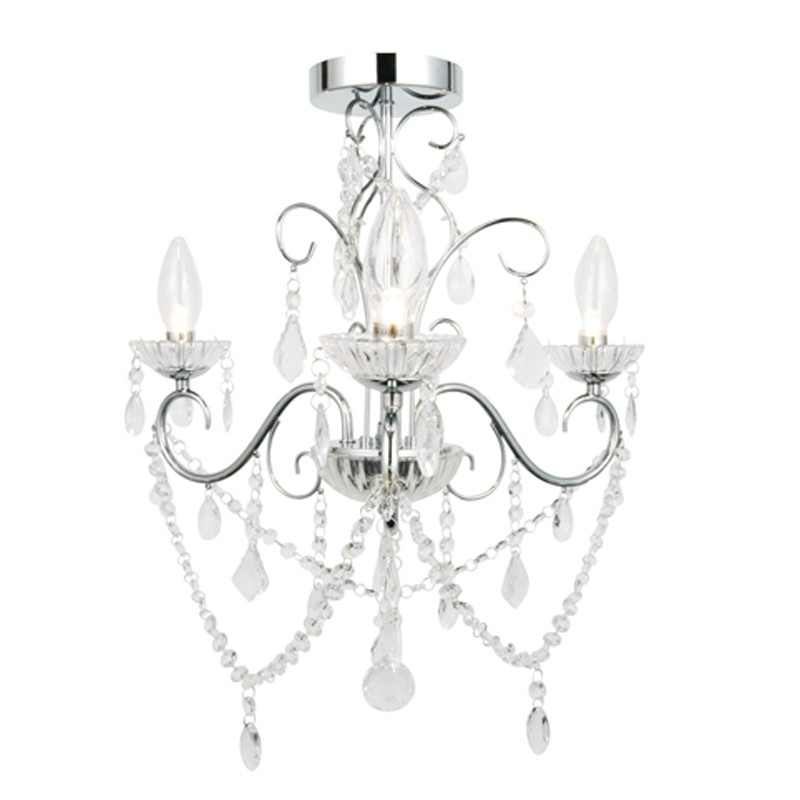 Most Recent Chandelier Bathroom Ceiling Lights Within Vela 3 Light Semi Flush – Lighting Direct (View 5 of 10)