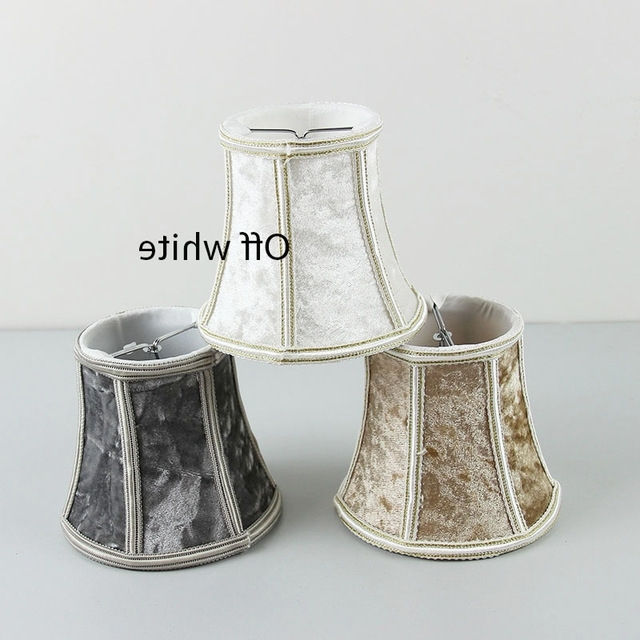 Most Recent Chandelier Lamp Shades Clip On In Light Diy High Quality White Brown Gray 3 Color Flannel Lampshades (View 6 of 10)