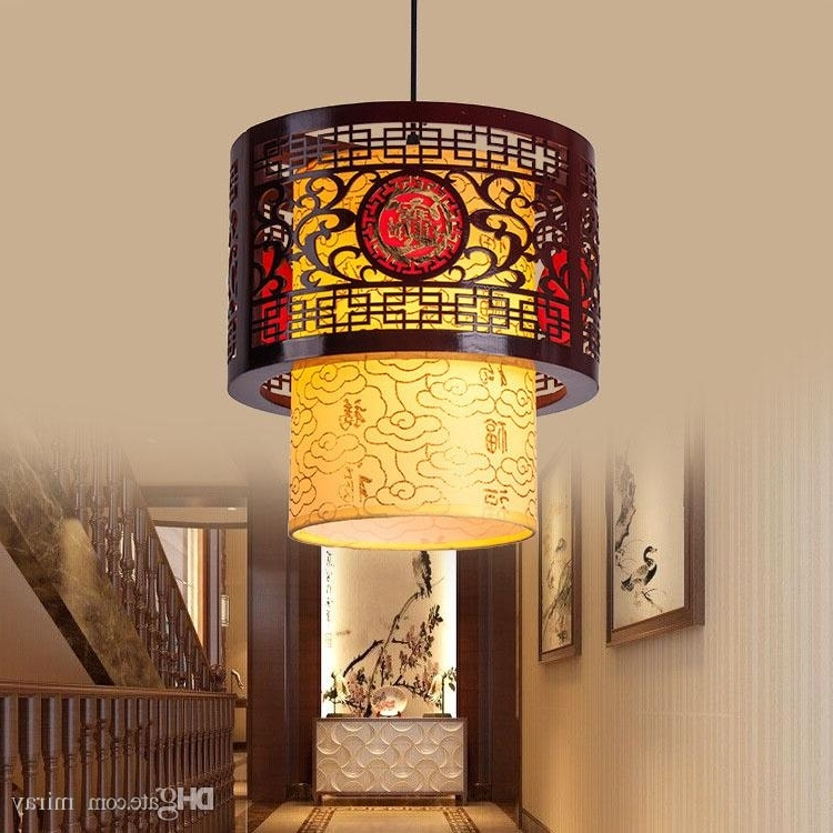 Most Recent Chinese Chandeliers With Regard To Chinese Led Hollow Wooden Bedroom Tea Restaurant Corridor Balcony (View 8 of 10)
