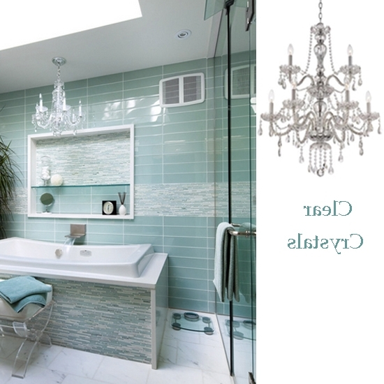 Most Recent Crystal Chandelier Bathroom Lighting Pertaining To Amazing Of Chandelier Bathroom Lighting 10 Bathroom Lighting Ideas (View 6 of 10)
