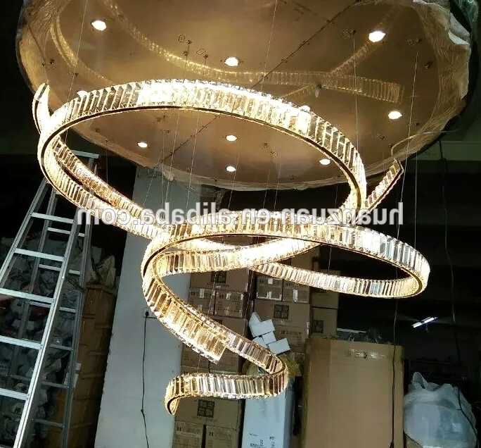 Most Recent Large Crystal Chandeliers For Hotels/ Big Chandelier Crystal /luxury Pertaining To Big Chandeliers (View 7 of 10)