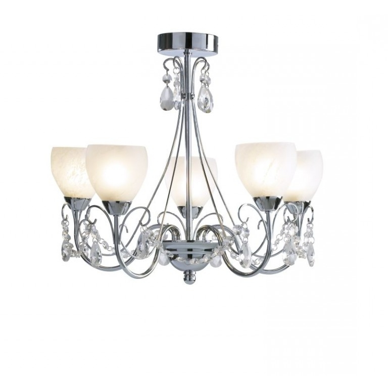 Most Recent Low Ceiling Chandeliers Intended For Crawford Low Ceiling Chandelier – Cotterell & Co (View 9 of 10)