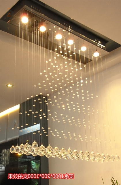 Most Recent Modern Square Crystal Chandelier Rotating Stainless Steel Led For Restaurant Chandeliers (View 9 of 10)