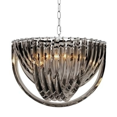 Most Recent Short Chandelier With Murano Smoke Acrylic Short Chandelier (View 6 of 10)