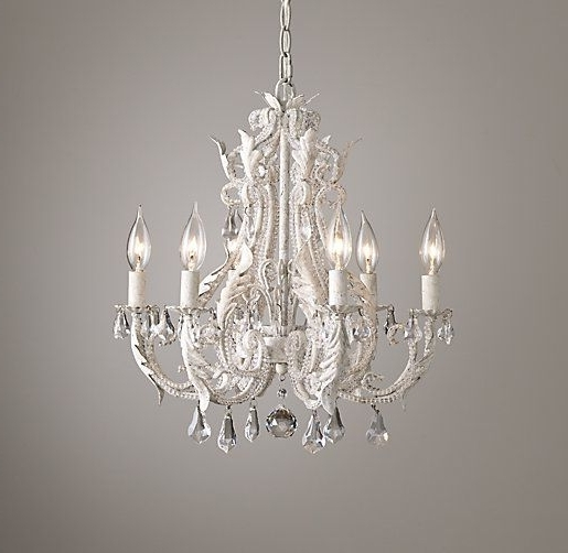 Most Recent Small White Chandeliers Pertaining To Palais Small Chandelier Rustic White: For Over The Bathtub (View 6 of 10)