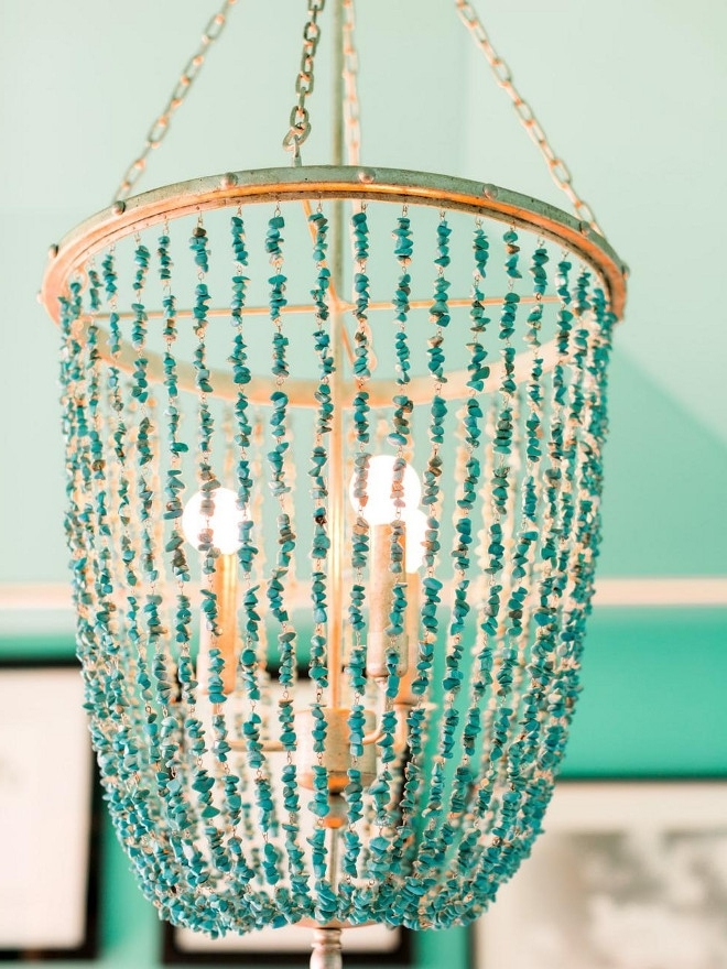 Most Recent Turquoise Beaded Chandelier. Turquoise Chandelier (View 3 of 10)