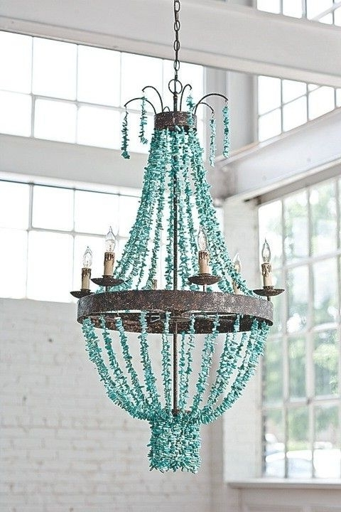 Most Recent Turquoise Stones Chandelier From Regina Andrew (View 6 of 10)