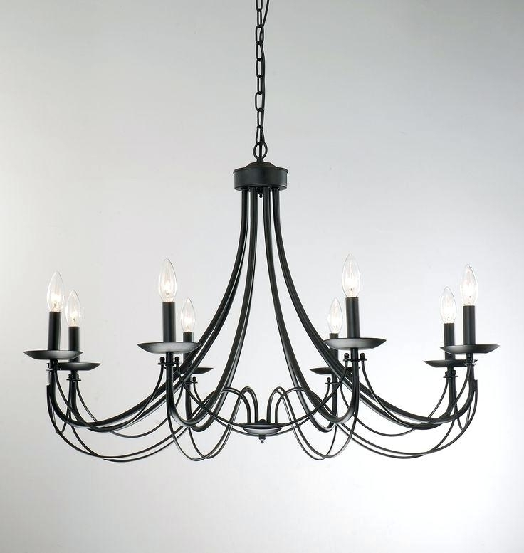 Most Recent White Wrought Iron Chandeliers Best Black Chandelier Ideas On Regarding Vintage Black Chandelier (View 5 of 10)