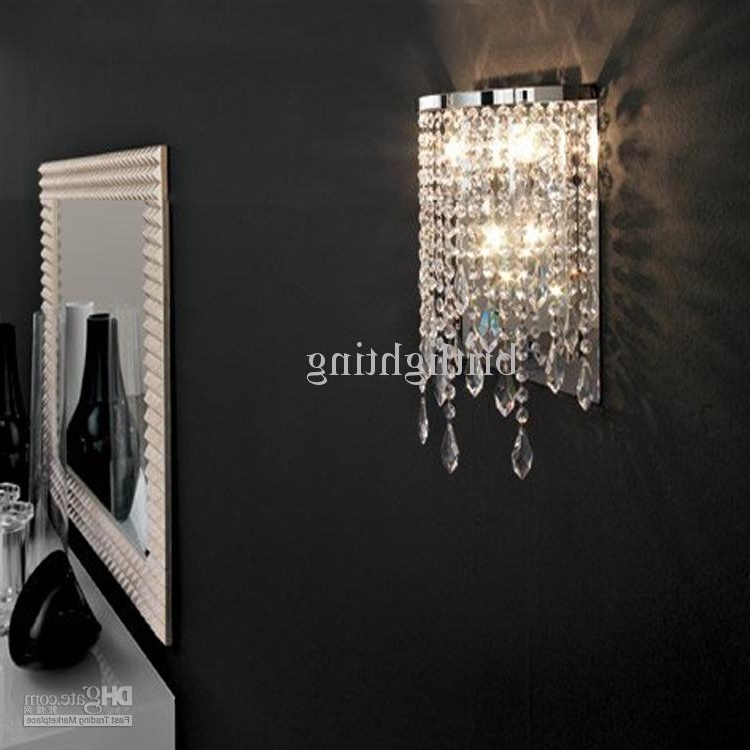 Most Recently Released Best Modern Crystal Wall Lamp Mirror Light Bathroom Contemporary Regarding Bathroom Chandelier Wall Lights (View 9 of 10)