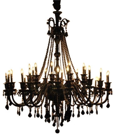 Most Recently Released Black Chandeliers Inside Black Iron Crystal Round Chandelier Regarding And Chandeliers (View 8 of 10)