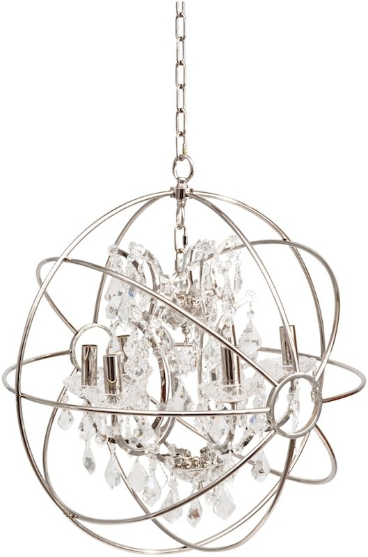 Most Recently Released Chesterford Small Nickel Globe Chandelier For Globe Chandeliers (View 5 of 10)