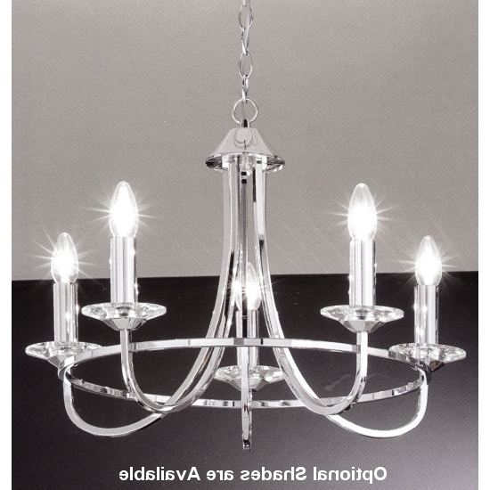 Most Recently Released Chrome Chandelier 5 Arm Regarding Chrome Chandelier (View 8 of 10)