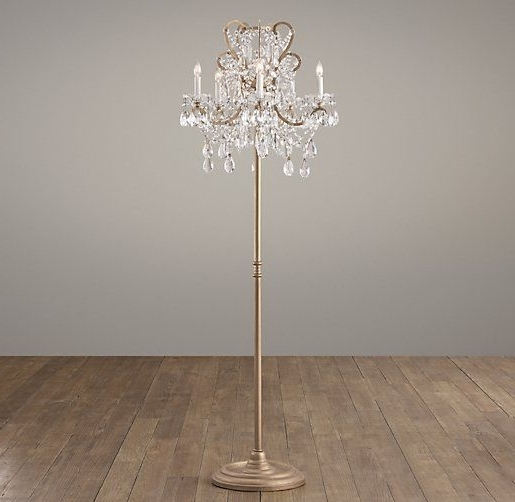 Most Recently Released Crystal Chandelier Standing Lamps With Regard To Crystal Chandelier Floor Lamp Ideas For Home Decoration Regarding (View 7 of 10)