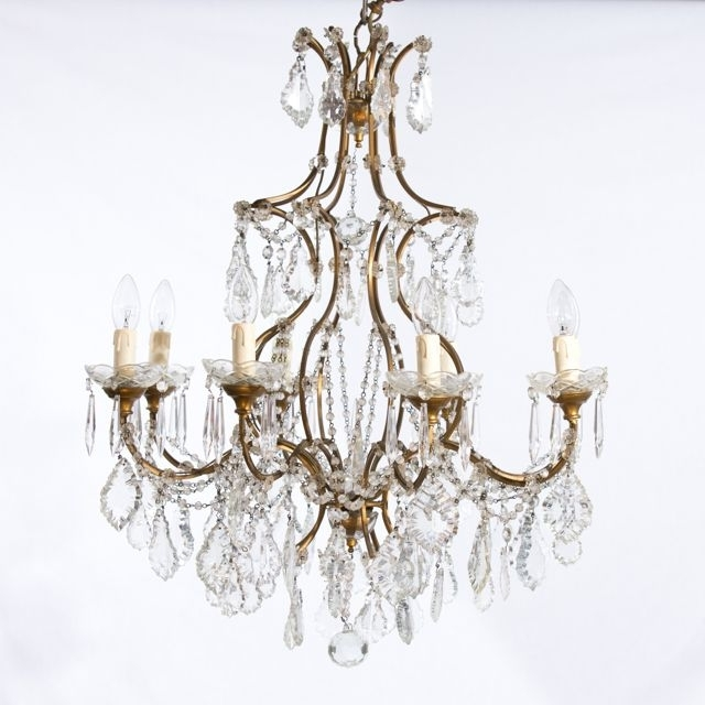 Most Recently Released French Chandeliers Pertaining To Home Design : Pretty Vintage French Chandelier Chandeliers 03 Home (View 7 of 10)