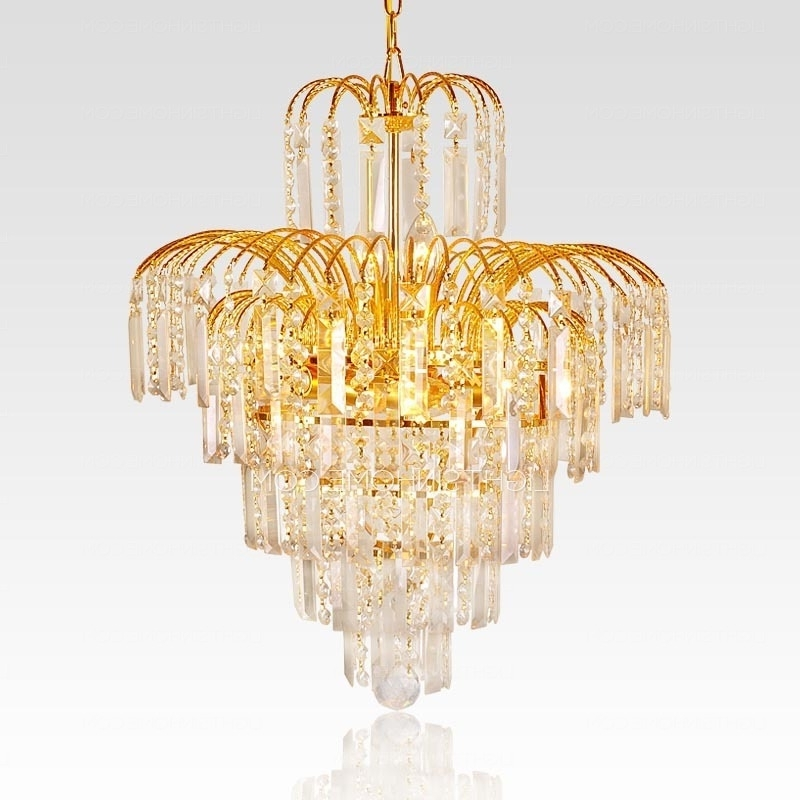 Most Recently Released Funky Chandeliers For Funky Chandeliers With 6 Lights Crystal Golden Metal (View 8 of 10)