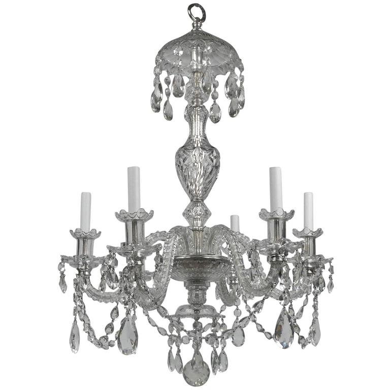 Most Recently Released Georgian Chandeliers Pertaining To Georgian Style Cut Crystal Six Light Chandelier,e. F (View 7 of 10)