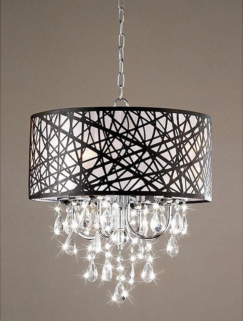 Most Recently Released Indoor 4 Light Chrome Antique Bronze Chandelier Contemporary In Contemporary Chandeliers (View 4 of 10)