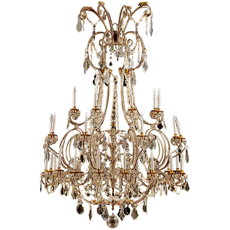 Most Recently Released Italian Chandeliers Style Intended For Italian Early 18Th Century Baroque Crystal Turin Chandelier (View 8 of 10)