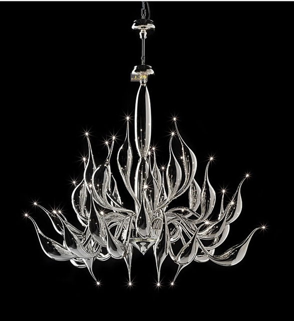Most Recently Released Italy Swan Chandelier Modern Murano Chandeliers Creative Art Glass With Modern Glass Chandeliers (View 3 of 10)