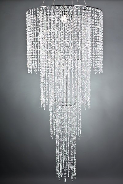 Most Recently Released Sparkly Chandeliers Regarding Large 4 Tier Crystal Acrylic Chandelier, Tent Lighting And (View 5 of 10)